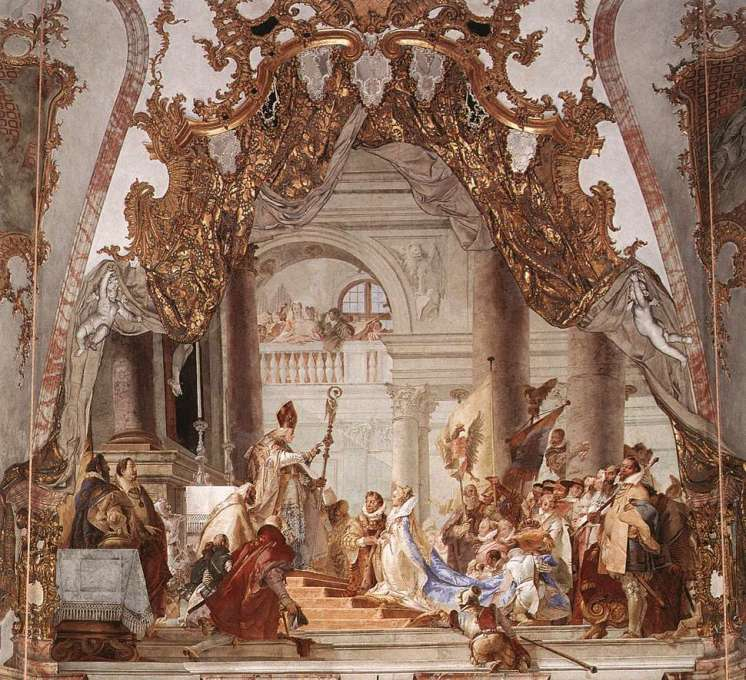 The Marriage of the Emperor Frederick Barbarossa to Beatrice of Burgundy by Giovanni Battista Tiepelo